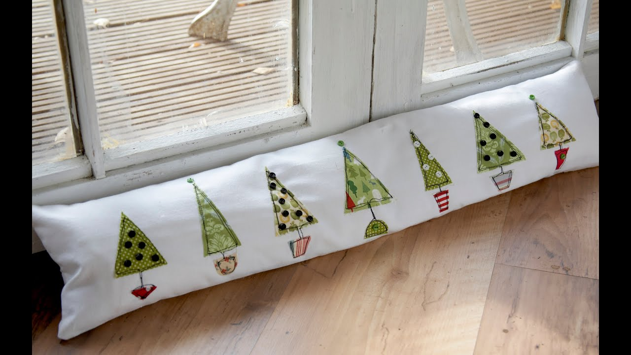 Free Motion Christmas Tree Draught Excluder Tutorial By