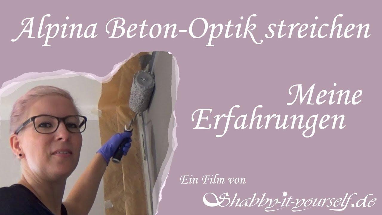 Alpina Farbrezepte Beton Optik Streichen Youtube