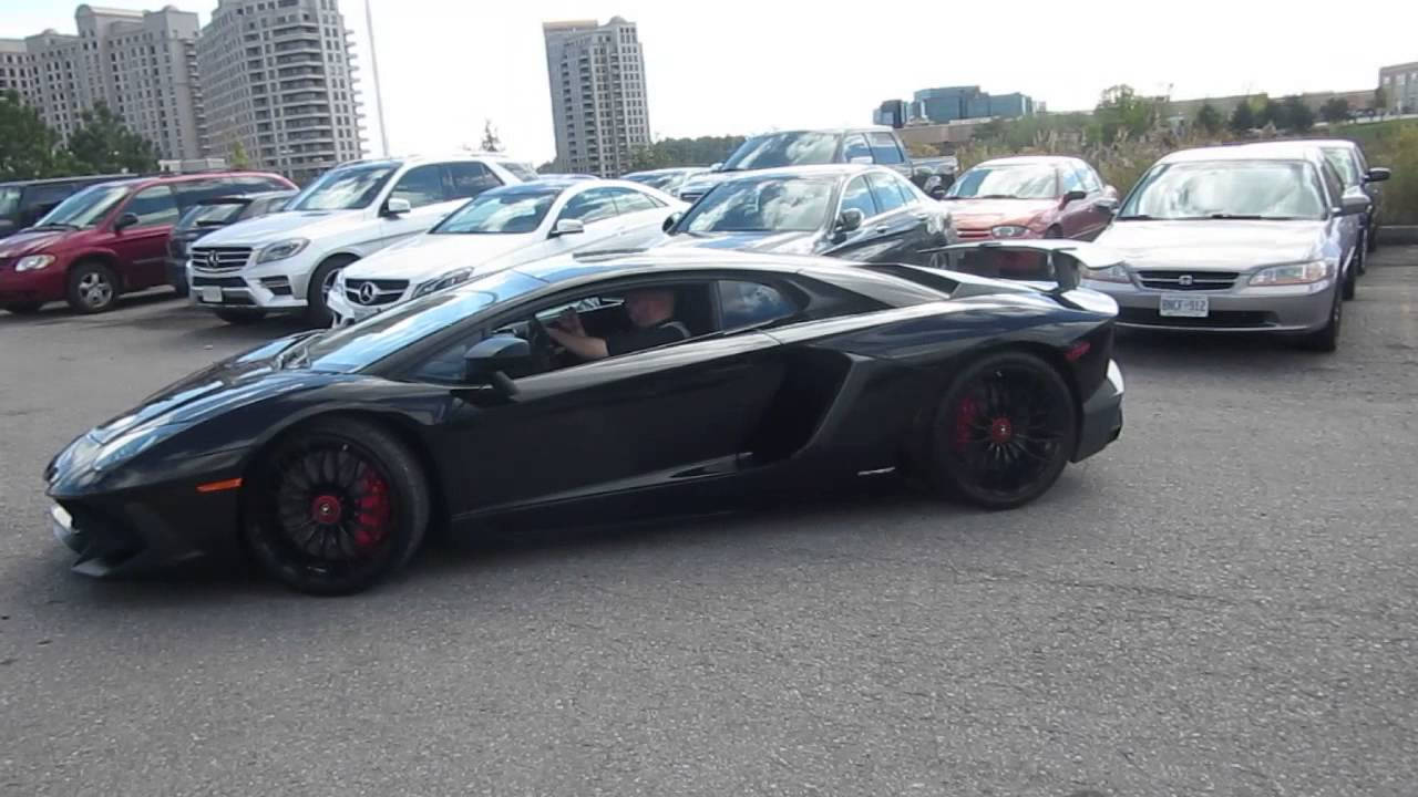 Black Lamborghini Aventador Sv Youtube