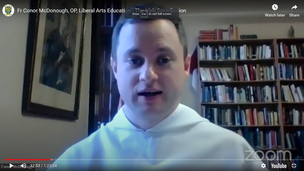 Fr Conor McDonough, OP, Liberal Arts Education - The Irish Contribution