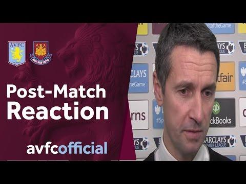 Villa 1-1 West Ham post-match reaction