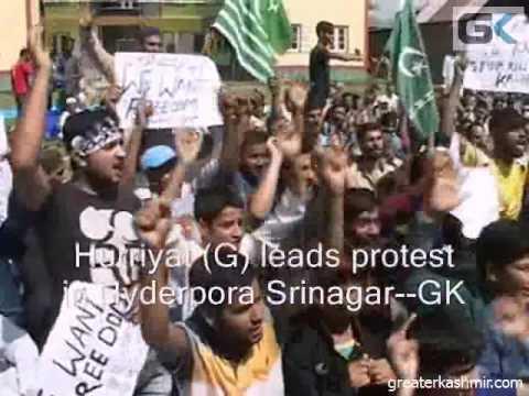 Hurriyat (G) leads protest in Hyderpora Srinagar