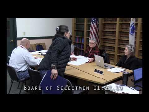 Board of Selectmen 01.22.19