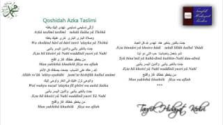 Teks Azka Taslimi - Ahbaabul Musthofa + MP3
