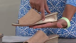 Judith Ripka Leather Wedge Slide Sandals - Jaimie on QVC
