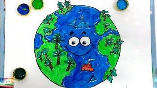 video infantil/desenho do planeta terra / desenho do mundo / como desenhar / como pintar / planeta