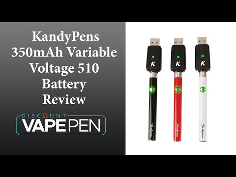 Kandypens 350mAh Variable Voltage 510 Battery Review