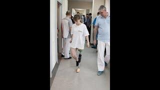 Тестирование пациенткой коленного модуля Orion3
