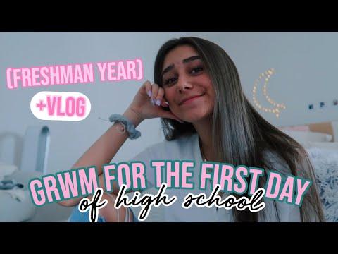 GRWM: first day of school + vlog (freshman year)