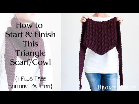 Claret Triangle Scarf Cowl Knitting Pattern Youtube