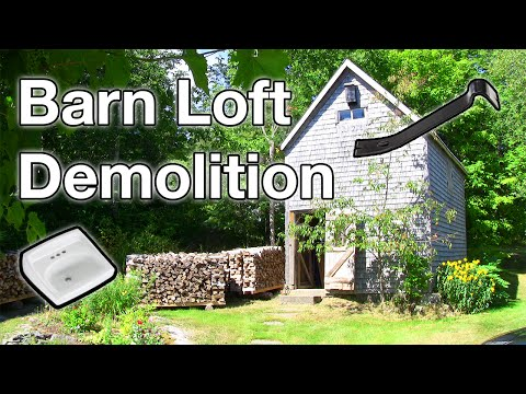 Barn Loft Floor Demolition - Barn Renovation 1