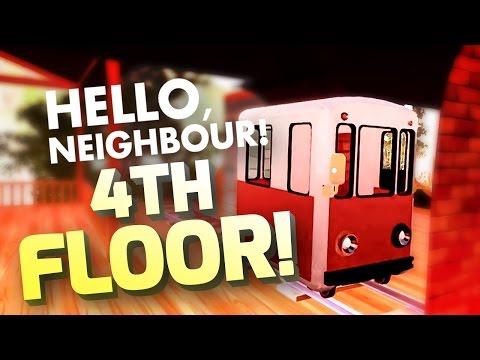 3RD, 4TH & 5TH FLOORS & RIDING ON THE TRAIN - Hello Neighbor Alpha 1 Gameplay - Hello Neighbour Mods