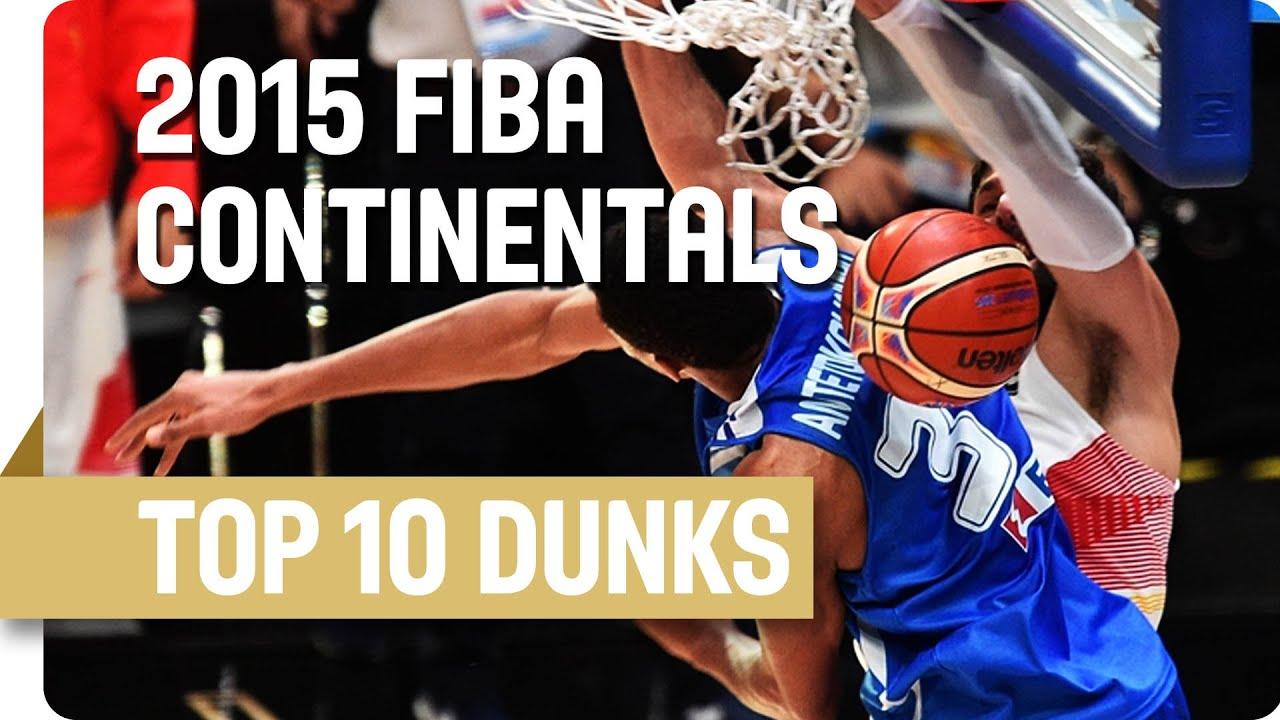 Top 10 Dunks w/ Mirotic, Gasol, Wiggins and more! - 2015 FIBA Continental Championships