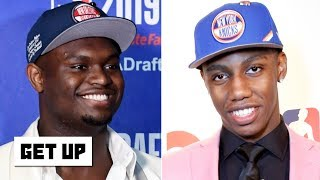 Download Which rookie is under the most pressure? Jalen says Zion, Greenberg picks RJ Barrett | Get Up Mp3 and Videos