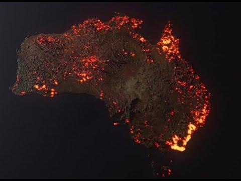 Австралия в огне! Бушующие в Австралии лесные пожары уже видны из космоса и засняты спутником.