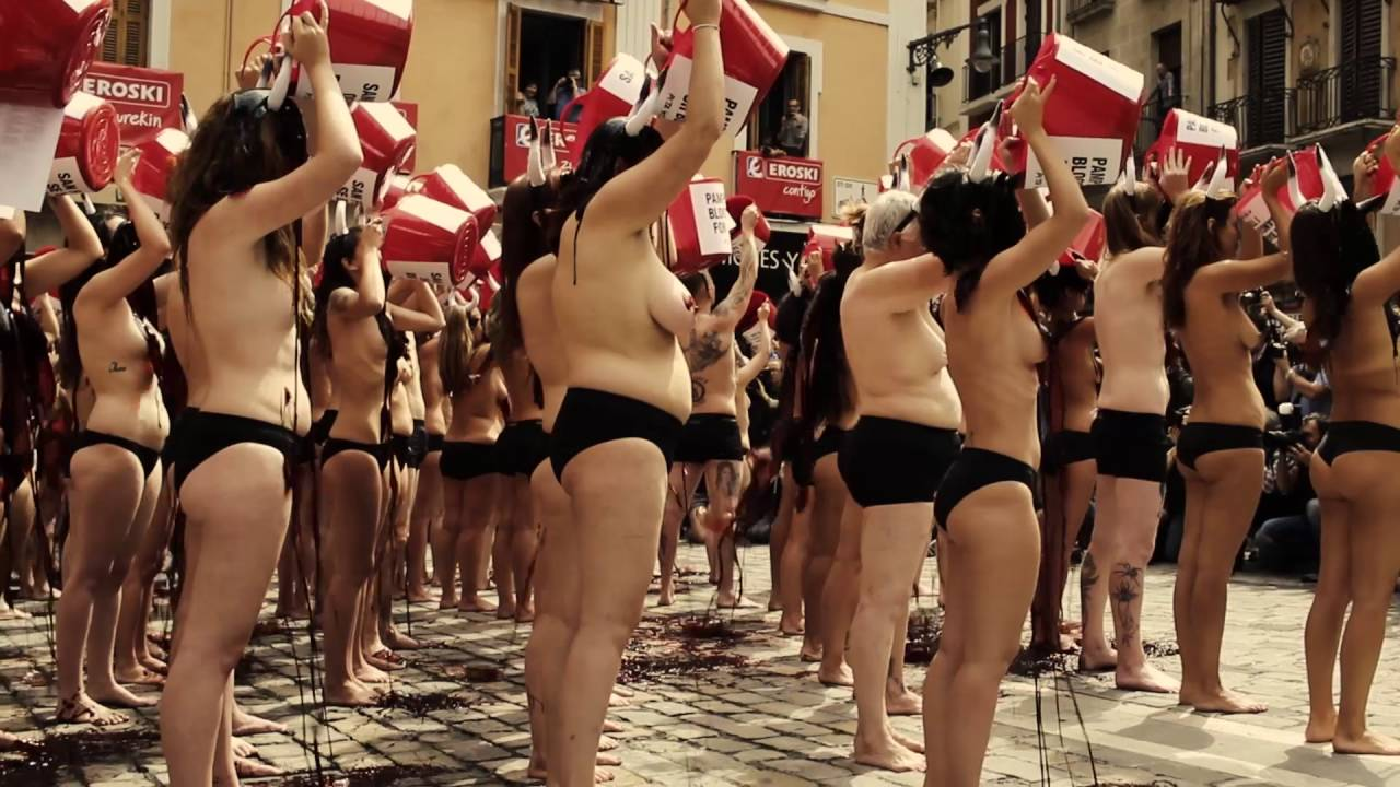 Protester topless peta protest phrase opinion