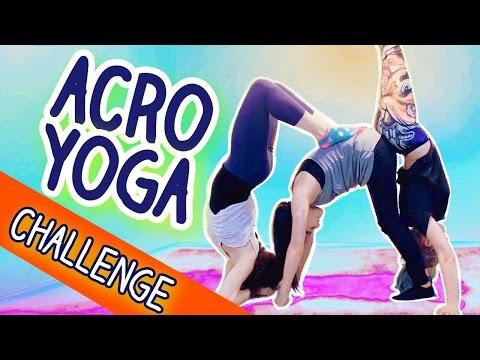 ACRO YOGA CHALLENGE With Three People