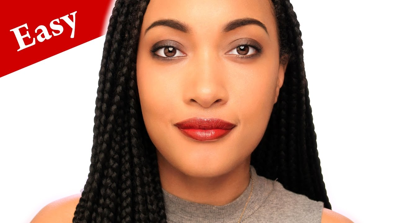 Full length EASY NIGHT OUT MAKEUP tutorial for LIGHT BROWN SKIN ...
