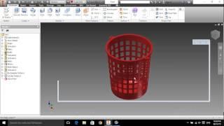 Thiết kế sọt đựng rác bằng Autodesk Inventor 2015