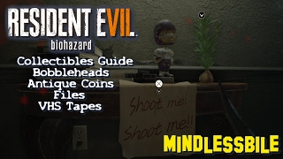 resident evil 7 biohazard complete collectibles guide bobbleheads antique coins files