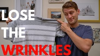 Make Your T-Shirt Look Brand New! HOW TO: STEAM YOUR T-SHIRT AND LOSE THE WRINKLES