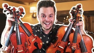"PLAYING ONE SONG ON 6 SMALL VIOLINS - ""Whatever it Takes"" 