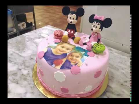 Mickey Mouse And Minnie Mouse Cake Design Youtube