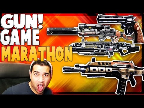 All Call of Duty Gun Games in 1 - Gun Game MARATHON - (BO1, BO2, Ghosts AW)