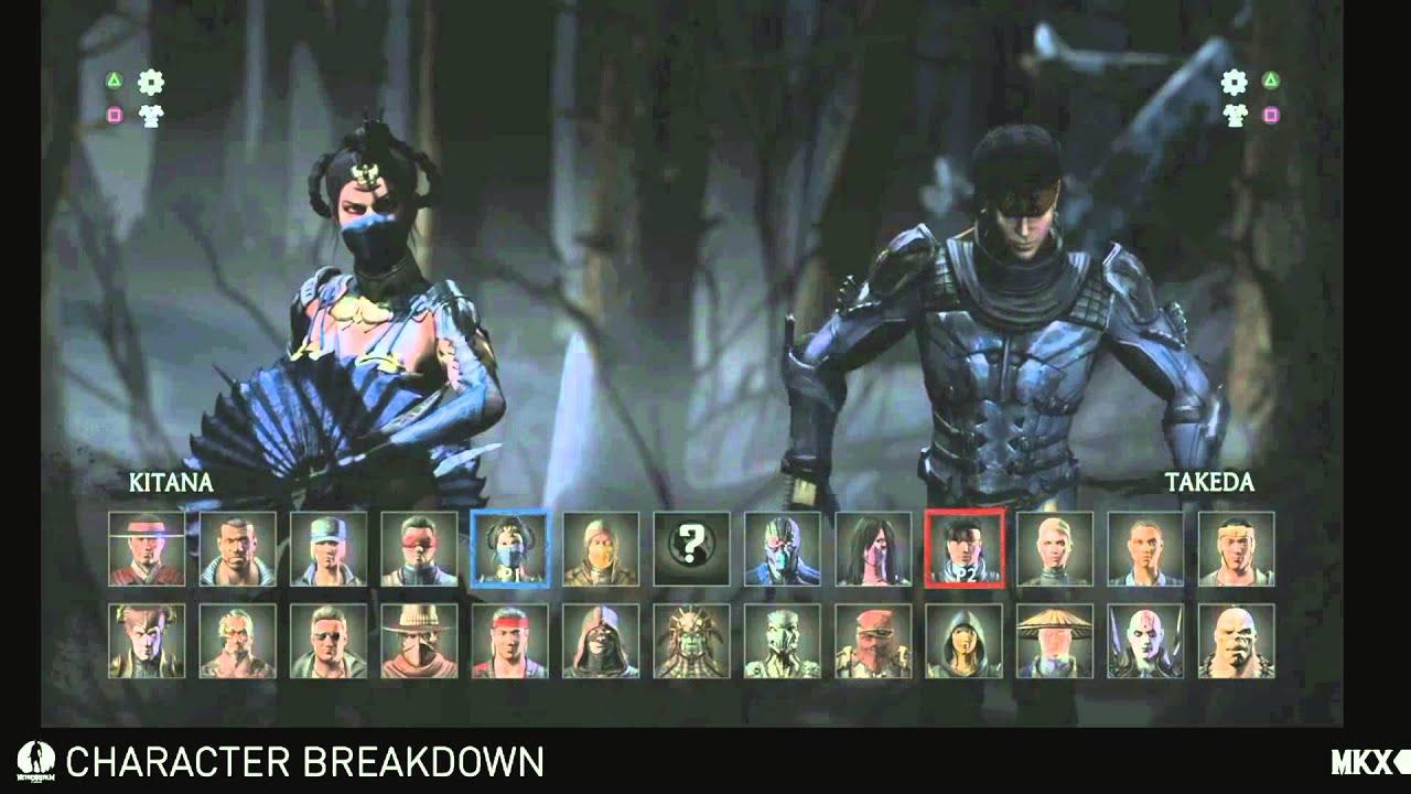 Mortal Kombat X Full Character Select Screen Roster Youtube