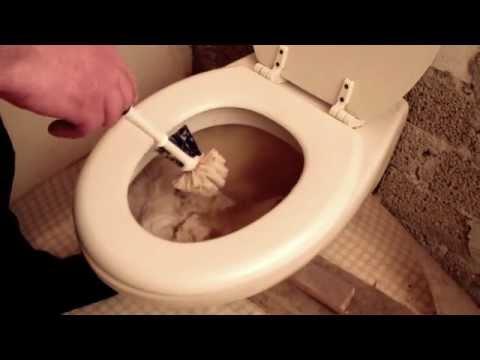 Toilette häcksler verstopft