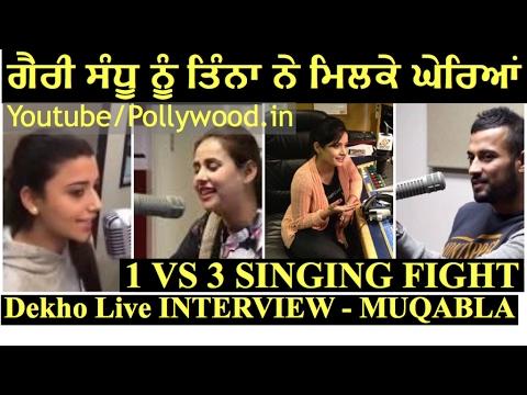 Garry Sandhu Vs Sunanda Sharma, Nimrat Khaira and Miss Pooja a Singing Fight Must Watch