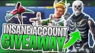 Insane Fortnite Account Giveaway Including Skull Trooper!! and more 60+ Bought Skins