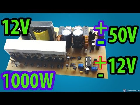 12V to +- 50V 1000W for amplifier | Car amplifier | How to