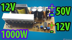 12V to +- 50V 1000W for amplifier | Car amplifier | How to make