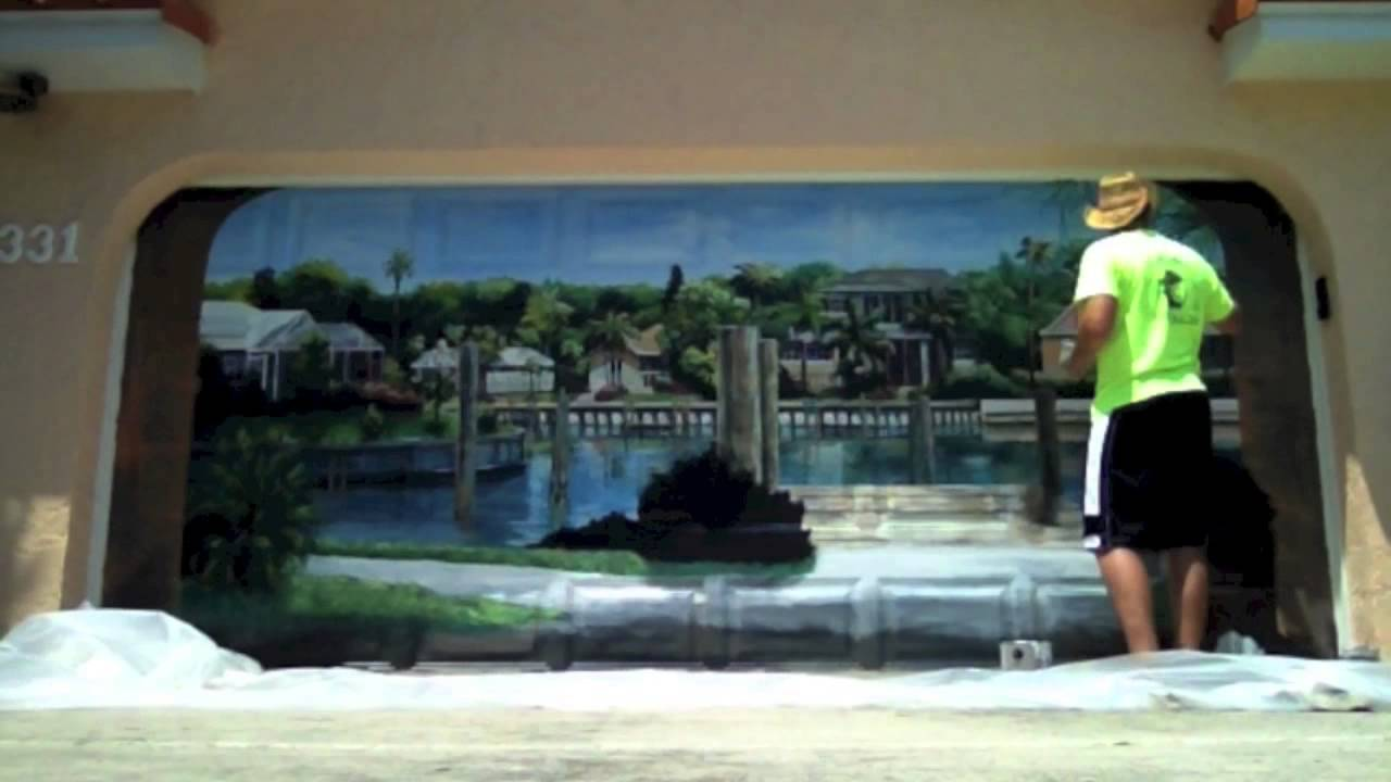 Garage Door Mural Time Lapse Youtube