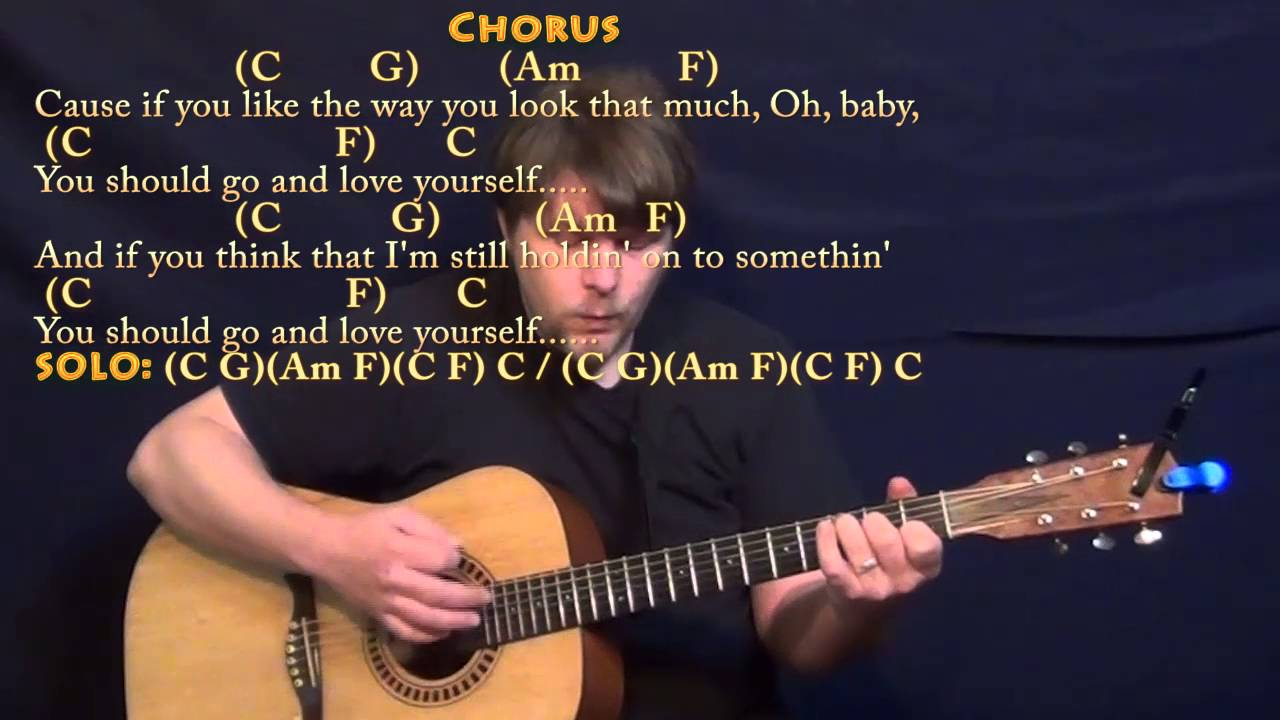 Love Yourself (Justin Bieber) Strum Guitar Cover Lesson in C with Chords/Lyrics - YouTube