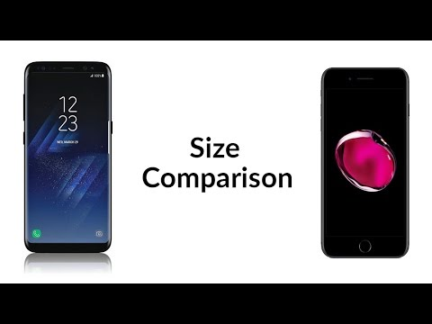 galaxy s8 plus vs iphone 7 plus size comparison youtube