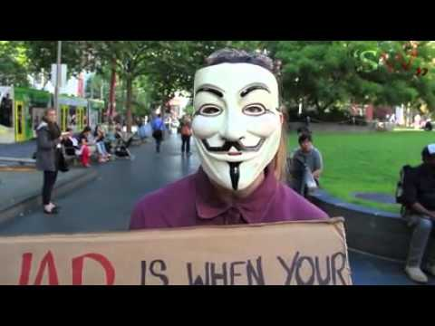 Melbourne ‪#‎MMM‬ 05/11/2015 - Anon Interviews Million Mask March