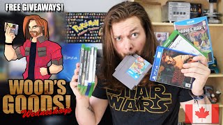 XBOX ONE, PS4, WII U PICK UPS! I'm In CANADA Now! *FREE GIVEAWAY* | Wood's Goods