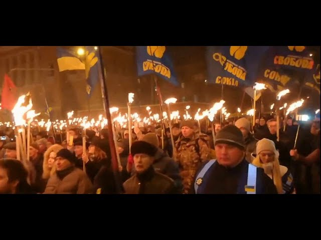 ⚡ MASS Neo-Nazi Marches in Ukraine today to honour Stepan Bandera