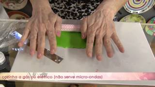 Aprenda a decorar um prato usando a técnica de Patchwork de texturas
