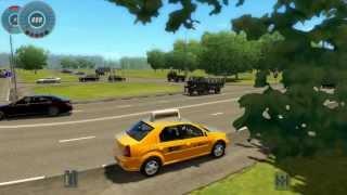 City Car Driving 1.2.5 : Renault/Dacia Logan TAXI - [ HD 1080p ]