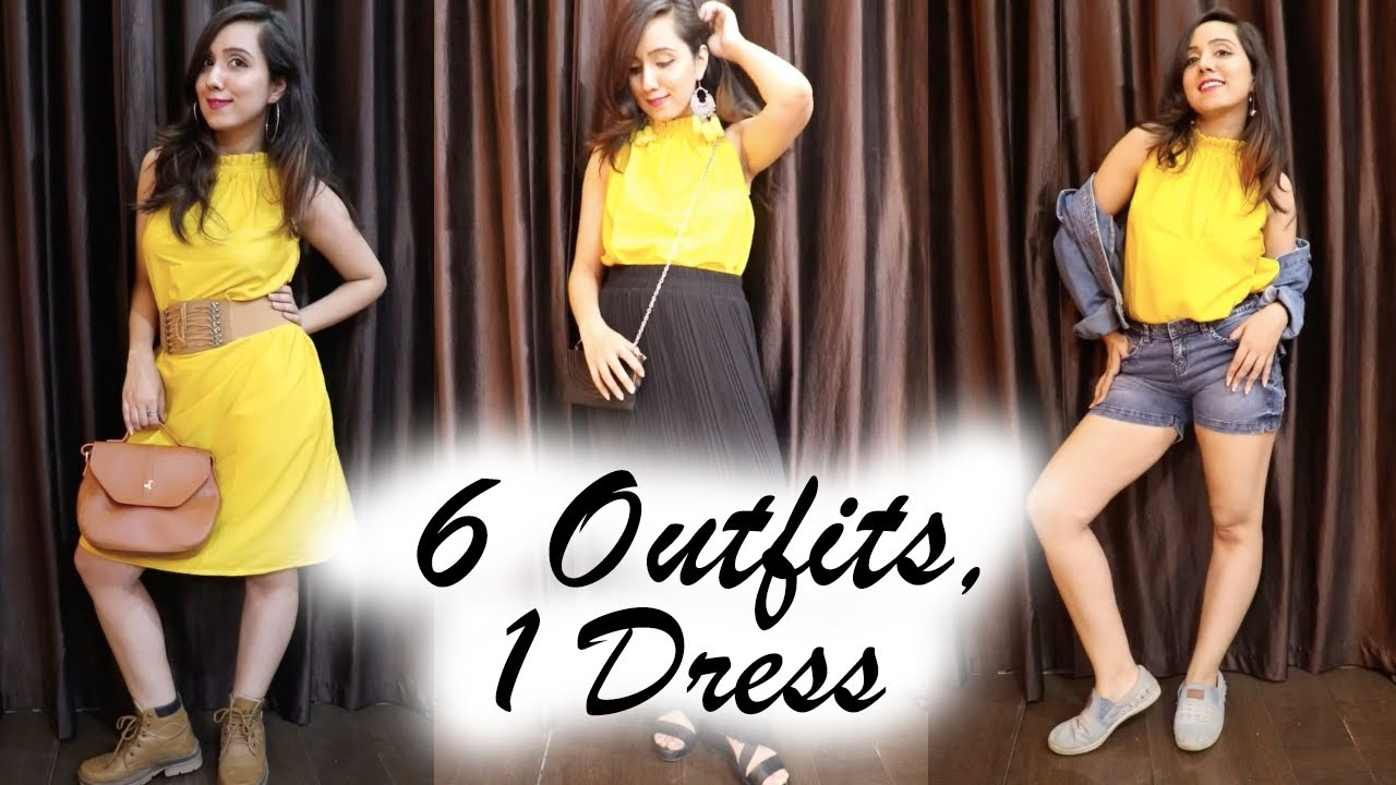 6 WAYS TO STYLE ONE DRESS || HOW TO STYLE || SUMMER OUTFIT IDEAS || 1 DRESS DIFFERENT WAYS