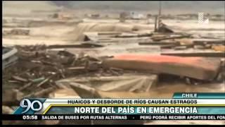 Norte de Chile devastado por deslizamientos e inundaciones