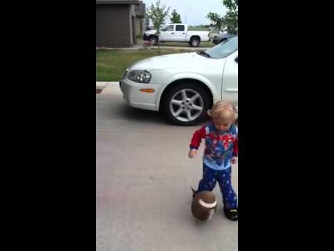 Little man football practice
