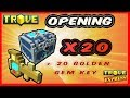 TROVE   opening 20 shadow water gem boxes with 20 golden gem key