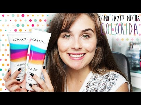 Como fazer mechas coloridas - Hair Chalk e  Color Use Lowell