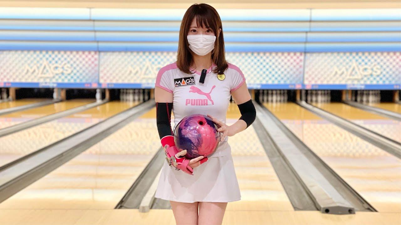 ボウリング女子の練習風景92(Bowling Practice)2021/7