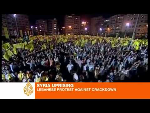 Beirut protests in solidarity with Syrian people