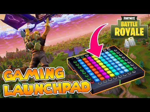 Playing FORTNITE with a Launchpad  Using Launchpad as a Games Controller